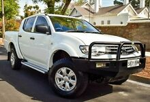 2014 Mitsubishi Triton MN MY15 GLX Double Cab White 5 Speed Manual Utility Medindie Walkerville Area Preview