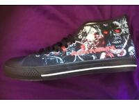 Iron maiden canvas shoes converse style uk 10 unworn