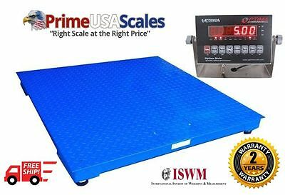 Optima Floor Scale 5x7 20000 Lb Pallet Scale Heavy Duty Steel With Indicator