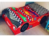 Kidsaw race car toddler bed! Great condition £30