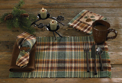 Placemat - Wood River by Park Designs - Plaid Green & Brown ()