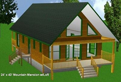 16x20 cabin shed guest house building plans nolaya for House building packages