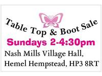 11. indoor & out door table top & car boot sale held weekly