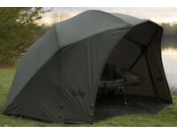 Fox supa brolly and overwrap, great condition