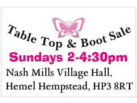 Sunday boot sale weekly starts 10/4/16