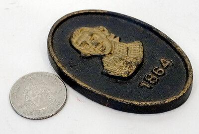 Vintage First Citizens National Bank Cast Iron Paperweight   Alexandria Virginia