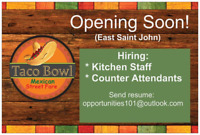 Cooks & Counter attendants needed!
