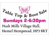 Car boot tables provided stalls available all sellers welcome