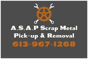 FREE Scrap Metal / Appliance pick-up & removal