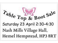 Boot sale held weekly starts 10/4/16