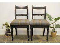 "Antique Oak Regency 'Edinburgh"" Chairs (Pair"