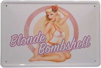 Pin Up Girl Blond (Sexy Pin Up Girl Blonde Bombshell Blechschild 20x30 cm Metallschild 905)