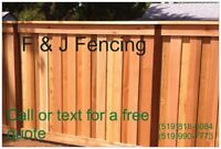 New fence or repair