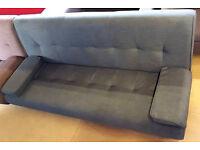 Sicily Fabric Clic Clac Sofa Bed-Grey £120 Can deliver