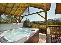Hot Tub Lodge in Beautiful Surroundings.