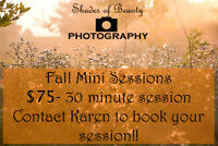 Fall Sessions- Shades of Beauty Photography