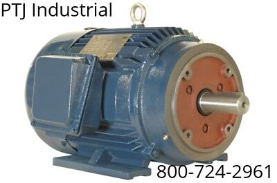 125 hp electric motor 444tsc 3600 rpm 3 phase premium efficient severe duty