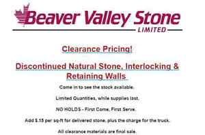 BEAVER VALLEY STONE DISCONTINUED & CLEARANCE  SALE
