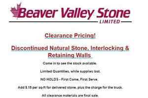 Beaver Valley Stone Limited   Clearance Pricing!