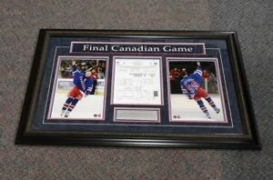 Wayne Gretzky Final Canadian NHL Game Framed and Matted Photo