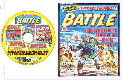 Battle Action & Battle 301-400 + 17 Holiday/Sum on DVD British Comics 117 issues