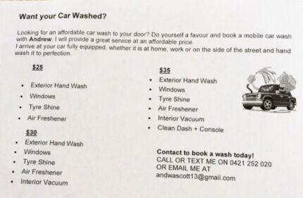 Car wash with free gift cleaning gumtree australia canada bay car wash to your door solutioingenieria Choice Image