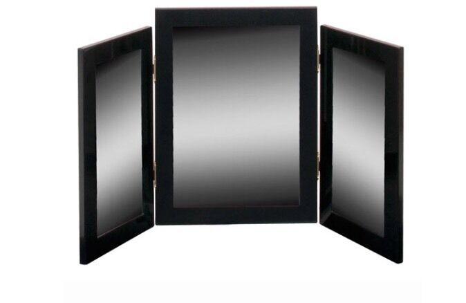 Triple Dressing Table Mirror - Black