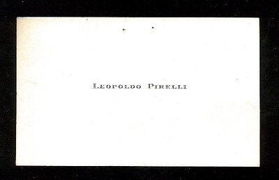 BIGLIETTO DA VISITA LEOPOLDO PIRELLI ANNI '50