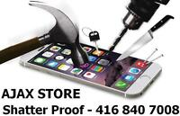SHATTER PROOF TEMPER GLASS FOR YOUR SMARTPHONE OR TABLET - AJAX
