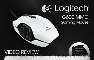 Logitech g600 Gaming Mouse (WHITE) - lightly used, box included