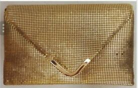 NEW Madam Posh 'Angela's Gold Clutch Bag