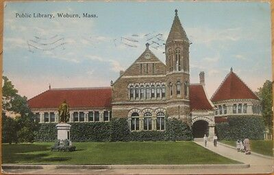 For sale 1915 Postcard: Public Library- Woburn, Massachusetts MA