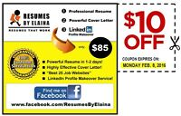 ★ Professional Resume Service ~ $10.00 OFF (Coupon attached)