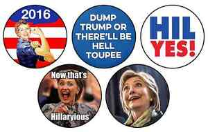 10 Trump & Clinton Pinback Buttons : NEW : Never Used Cambridge Kitchener Area image 2