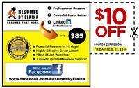 #1 RESUME SERVICE ($10.00 OFF Coupon) ~ Exp. February 12th