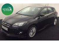 £181.77 PER MONTH BLACK 2013 FORD FOCUS 1.6 POWERSHIFT ZETEC S 5 DR PETROL AUTO