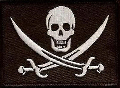 Calico Jacks Flag - CALICO JACK JOLLY ROGER  PIRATE FLAG SKULL SWORDS HOOK  PATCH