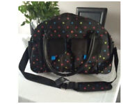 Brand New - Next Baby Changing Bag with Accessories Black with Spots