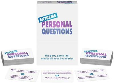 Extreme Adult Game (Extreme Personal Questions - Boundary Breaking Adult Party Card)