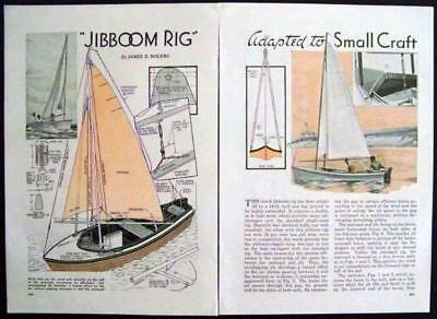 Jibboom Rig for Small Sailboat 1936 How-To build PLANS