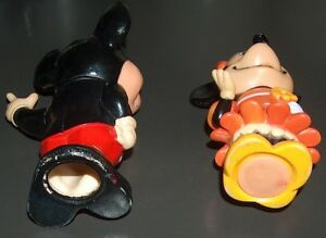 Vintage Mickey and Minnie Mouse Matching Coin Piggy Bank Set London Ontario image 2