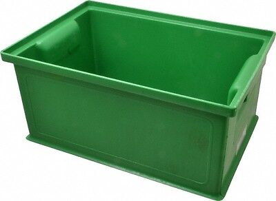 SSI Schaefer 0.25 Cu. Ft. Green Polyethylene and Conductive PP Tote Container...
