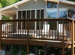 3 BDR Lake front Cottage  Haliburton  Great swimming and fishing
