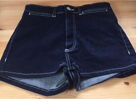 Topshop Ladies moto denim shorts W28 71cm