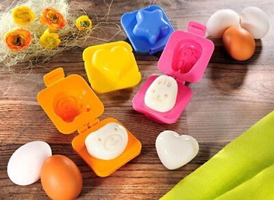 4 Stk. Eierformer für gekochte Eier Motive  Ei Former Form Stern Herz Hase Bär