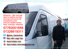 Falmouth & surrounding areas, Man and large van.