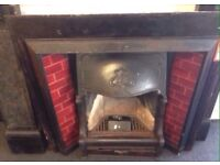 Victorian fireplace with Welsh slate surround