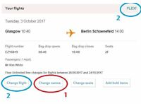 EasyJet Flights: Glasgow to Berlin 26 Sept (FLEXIBLE DATE) NEGOTIABLE PRICE