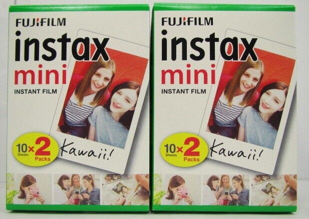 FUJIFILM Mini instax INSTANT COLOR FILM 40 Sheets 2 Boxes - White [ 03/2020 ]