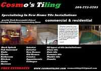 COSMO'S TILING PROFESSIONAL INSTALLATIONS WPG MB 204-772-5783